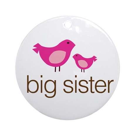 matching big sister t-shirt birdie Ornament (Round