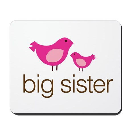 matching big sister t-shirt birdie Mousepad