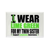 I Wear Lime Green Twin Sister Rectangle Magnet (10