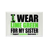 I Wear Lime Green Sister Rectangle Magnet