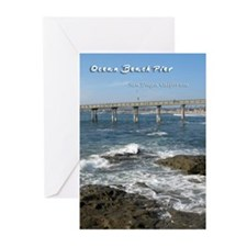Ocean Beach Pier Greeting Cards (Pk of 20)