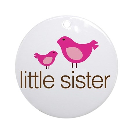 little sister t-shirts matching Ornament (Round)