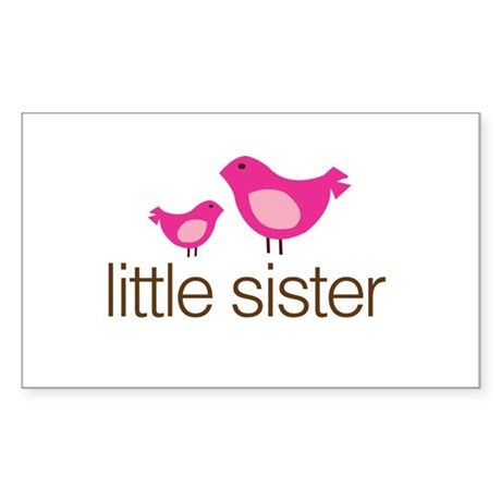 little sister t-shirts matching Sticker (Rectangle