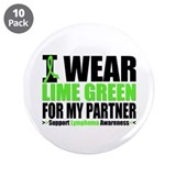 "I Wear Lime Green Partner 3.5"" Button (10 pack)"