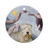 &quot;Creation&quot; &amp; Wheaten Terrier Keepsake (Round)