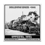 Burlington Engine #3001 Tile Coaster