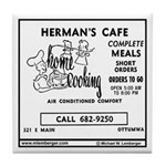 Herman's Cafe Tile Coaster