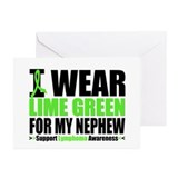I Wear Lime Green Nephew Greeting Cards (Pk of 10)
