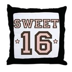 Sweet 16 Throw Pillow