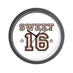 Sweet 16 Wall Clock