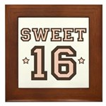 Sweet 16 Framed Tile