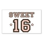 Sweet 16 Rectangle Sticker 50 pk)