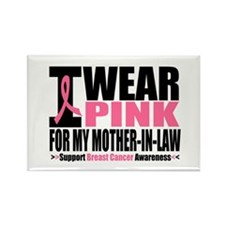 I Wear Pink Mother-in-Law Rectangle Magnet (10 pac