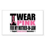 I Wear Pink Mother-in-Law Rectangle Decal
