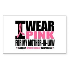I Wear Pink Mother-in-Law Rectangle Sticker 10 pk