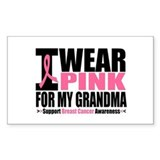 I Wear Pink For My Grandma Rectangle Decal