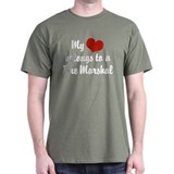 My Heart Belongs to a Fire marshal  T-Shirt