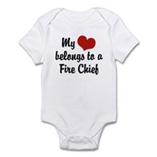 My Heart Belongs to a Fire Chief Infant Bodysuit