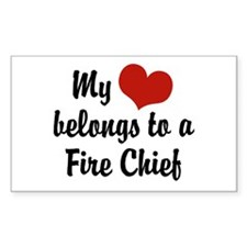 My Heart Belongs to a Fire Chief Decal