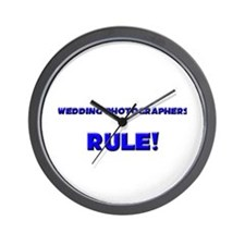 Wedding Photographers Rule! Wall Clock