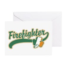 Irish Firefighter Greeting Cards (Pk of 10)