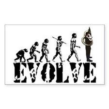 Tuba Sousaphone Evolution Rectangle Decal