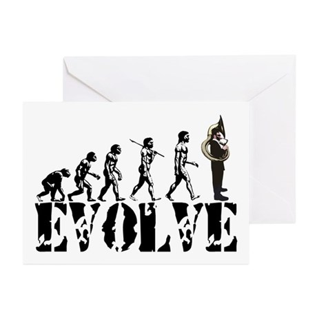 Tuba Sousaphone Evolution Greeting Cards (Pk of 10
