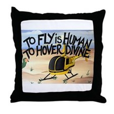Helicopter in Desert Throw Pillow
