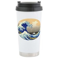 Great Wave Ceramic Travel Mug