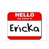 Hello my name is Ericka Postcards (Package of 8)