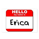 Hello my name is Erica Postcards (Package of 8)