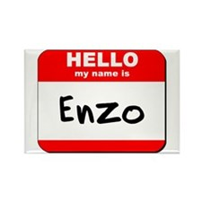 Hello my name is Enzo Rectangle Magnet (10 pack)