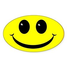 Smiley Face Oval Decal