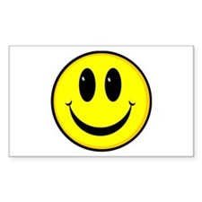SMILEY FACE Rectangle Decal