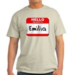 Hello my name is Emilia Light T-Shirt