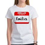 Hello my name is Emilia Women's T-Shirt
