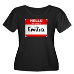 Hello my name is Emilia Women's Plus Size Scoop Ne