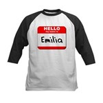Hello my name is Emilia Kids Baseball Jersey