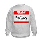Hello my name is Emilia Kids Sweatshirt