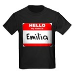 Hello my name is Emilia Kids Dark T-Shirt