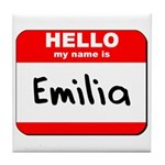 Hello my name is Emilia Tile Coaster