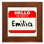 Hello my name is Emilia Framed Tile