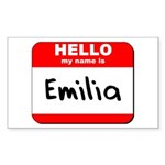 Hello my name is Emilia Rectangle Sticker