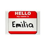 Hello my name is Emilia Rectangle Magnet