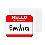 Hello my name is Emilia Greeting Card