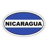 Nicaragua Flag Oval Decal