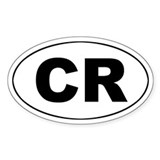 Costa Rica (CR) Oval Decal