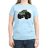 GREEN MONSTER TRUCKS Women's Pink T-Shirt