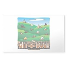 Git-R-Dug! Rectangle Sticker 50 pk)