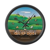 Git-R-Dug! Large Wall Clock
